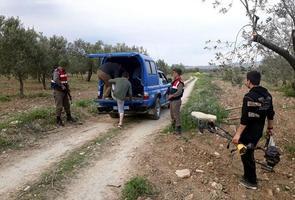 İzmir'in Bergama ilçesindeki Elia Antik Kenti'nde kaçak kazı yapan 4 kişi yakalandı. ( İl Jandarma Komutanlığı - Anadolu Ajansı )