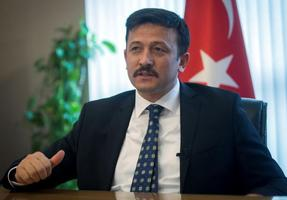 AK Parti Genel Başkan Yardımcısı Hamza Dağ, parti genel merkezinde AA muhabirine, gündeme ilişkin açıklamalarda bulundu. ( Emin Sansar - Anadolu Ajansı )